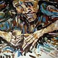 Drunk Inspired By Egon Schiele by Udi Peled