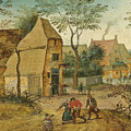 Drunkard Being Taken Home From The Tavern By His Wife by Pieter Brueghel the Younger
