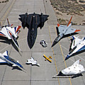 Dryden Research Aircraft Fleet 1997 by NASA Science Source