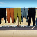 Drying Wet Suits by Carlos Caetano
