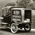 Du Pont Co. Explosives Truck Pennsylvania Coal Fields 1916 by Arthur Miller