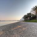 Dubai Beach Sunset by David Pyatt