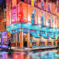 Dublin In The Rain by Mark Tisdale