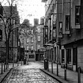 Dublin Ireland - Essex Street In Black And White by Bill Cannon