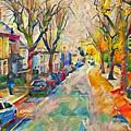 Dublin Side Street by Yury Malkov