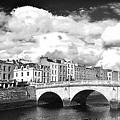 Dublin's Fairytales Around  River Liffey 3 Bw by Alex Art and Photo