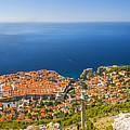 Dubrovnik From Above Panorama by Sandra Rugina