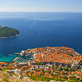 Dubrovnik Old Town From Above by Sandra Rugina