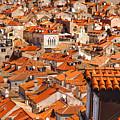 Dubrovnik Orange Old Town Rooftops by Sandra Rugina