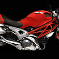 Ducati Monster In Red by Kimxa Stark