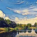 Reflections At Duck Creek by Diane Miller