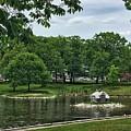 Duck House Deering Oaks Park Portland Maine by Patricia E Sundik