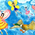 Duck Meets Fairy Ballet Class by Sushila Burgess