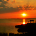 Duck Sunset Outer Banks North Carolina by Randy Steele