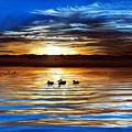 Ducks On Clear Lake by Linda Becker