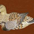 Ducks - Wood Carving by Merton Allen