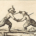 Duel With Swords by Jacques Callot