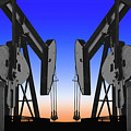 Dueling Oil Well Pumps by Dennis Thompson