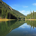 Duffey Lake Reflection In Autumn by Pierre Leclerc Photography