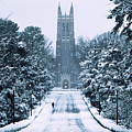 Duke Snowy Chapel Drive by Duke University