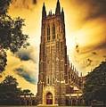 Duke University Chapel At Dusk by Library Of Congress