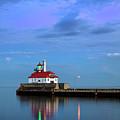 Duluth Harbor Lighthouse by CA Johnson