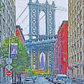 Dumbo -  Down Under The Manhattan Bridge Overpass by Digital Photographic Arts