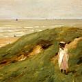 Dune Near Noordwijk With Child by Max Liebermann