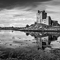 Dunguaire Castle In Black And White by Pierre Leclerc Photography
