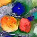 Duo De Fleurs 2 by Aline Halle-Gilbert