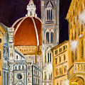 Duomo At Night by Joni Dipirro