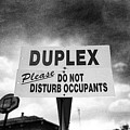 Duplex Yard Sign Stormy Sky In Bw by YoPedro