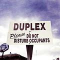 Duplex Yard Sign Stormy Sky by YoPedro