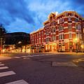 Durango Colorado Skyline - Strater Hotel At Dawn by Gregory Ballos
