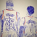 Durant And Westbrook by Jack Bunds