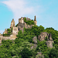 Durnstein Castle And Stone Outcroppings by Bob Phillips