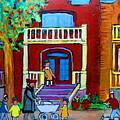 Durocher Street Montreal by Carole Spandau