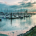 Dusk At Breskens Harbor by Daniel Heine