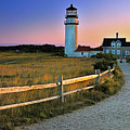 Dusk At Cape Cod Lighthouse by Thomas Schoeller