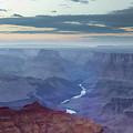 Dusk At Desert View by Ricky Barnard