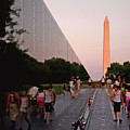 Dusk At The Viet Nam Veterans Memorial by Brian M Lumley