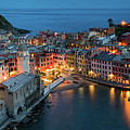 Dusk At Vernazza by Michael Blanchette