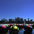 Dusk Finds The Spheres Of Macarthur Park by Lorraine Devon Wilke