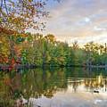 Dusk On Autumn Lake  by Andrew Kazmierski