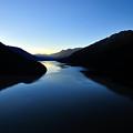 Dusk On Lillooet Lake by Dave Steers