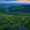 Dusk Over The Yakima Valley by Mike  Dawson