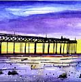Dusk Pier by Tonya Doughty