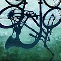 Dusk Shadows - Bicycle Art by Linda Apple