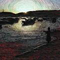 Dusky Harbor A La Van Gogh II by Dee Flouton