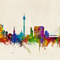 Dusseldorf Germany Skyline by Michael Tompsett